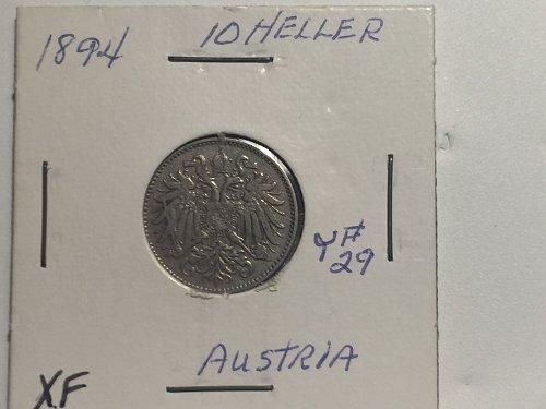 1894 Austria - 10 Heller
