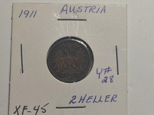 1911 Austria - 2 Heller