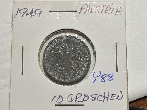 1949 Austria - 10 Groschen