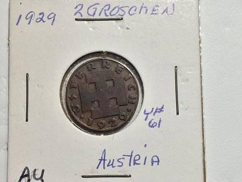1929 Austria - 2 Groschen
