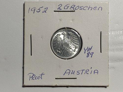 1952 Austria - 2 Groschen