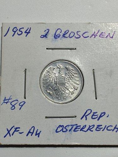 1954 Austria - 2 Groschen