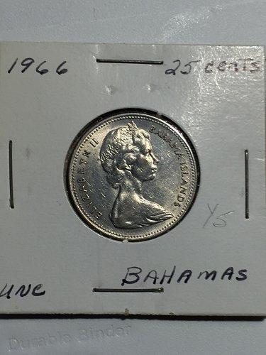 1966 Bahamas - 25 Cents