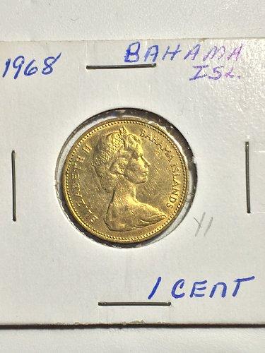 1968 Bahamas - 1 Cent