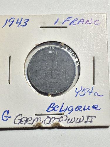 1943 Belgium - 1 Franc