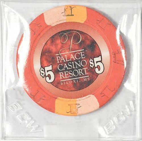 Casino Chip, Palace Casino, Biloxi, $5.00, Pre- Katrina, (Item 362)