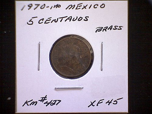 1970mo MEXICO FIVE CENTAVOS