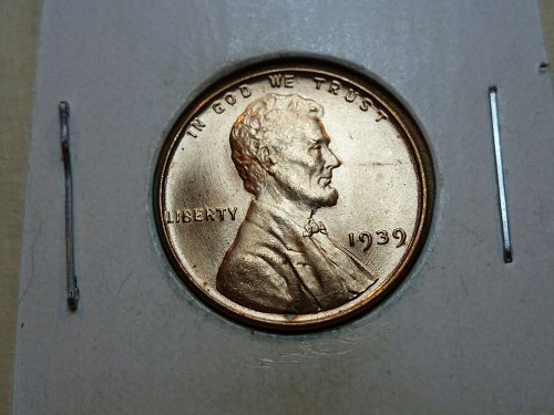 1939-P  BU RED Grade Lincoln Wheat Cent