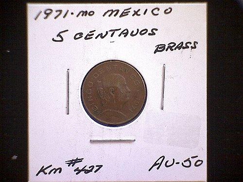 1971mo MEXICO FIVE CENTAVOS