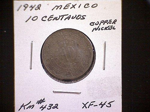 1942 MEXICO TEN CENTAVOS