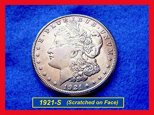 1921-S Morgan Silver Dollar •••    (#5297)