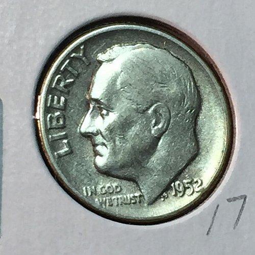 1952-P Roosevelt Dime (10119)