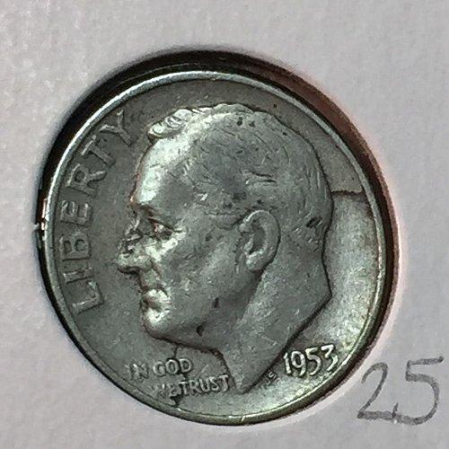 1953-D Roosevelt Dime (10123)