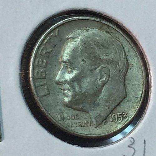 1953-D Roosevelt Dime (10126)