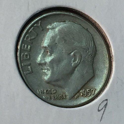 1957-D Roosevelt Dime (10132)