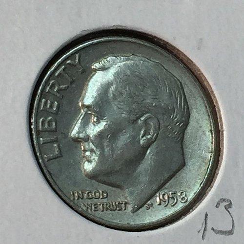 1958-D Roosevelt Dime (10134)