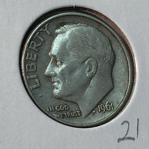 1961-D Roosevelt Dime (10138)