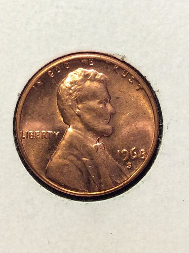 1968 S Lincoln Cent