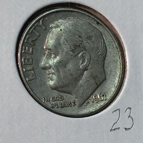 1961-D Roosevelt Dime (10139)