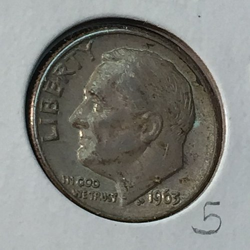 1963-D Roosevelt Dime (10146)