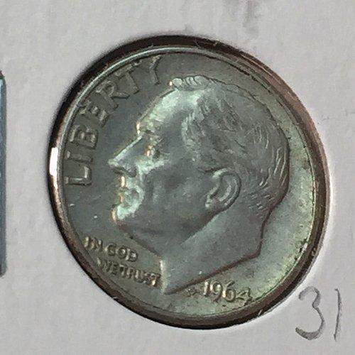 1964-D Roosevelt Dime (10160)