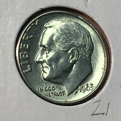 1965-P Roosevelt Dime (10172)