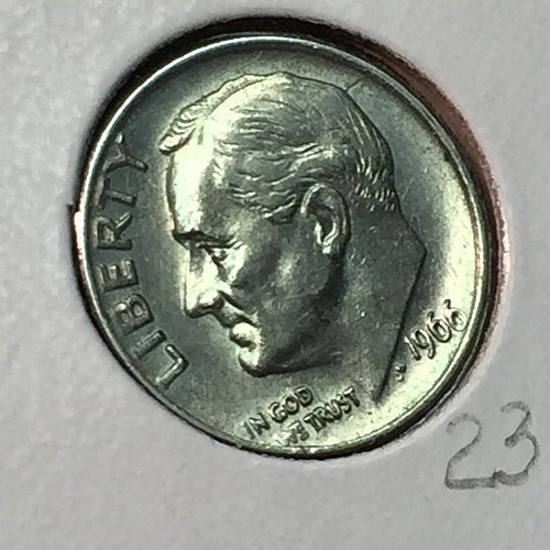 1966-P Roosevelt Dime (10173)