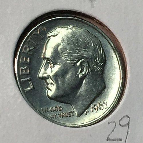 1967-P Roosevelt Dime (10176)