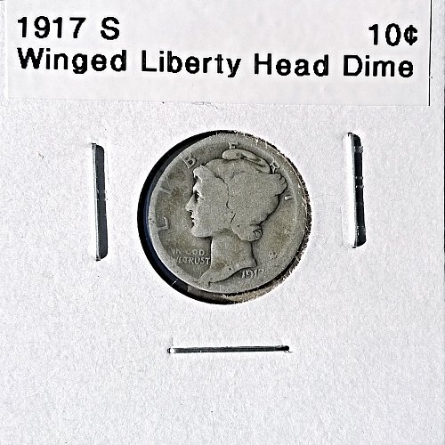 1917 S Winged Liberty Head Dime