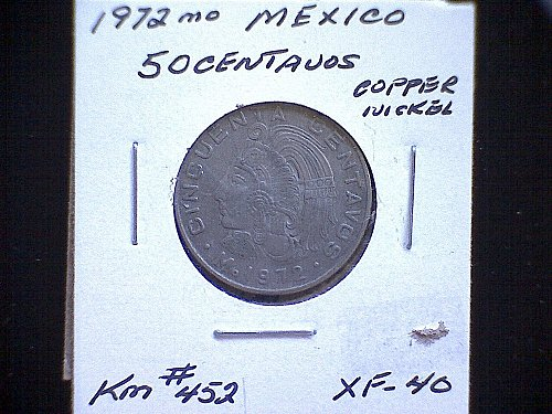 1972mo MEXICO FIFTY CENTAVOS