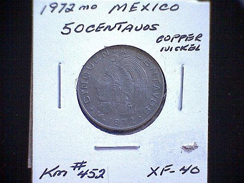 1972mo MEXICO FIFTY CENTAVOS