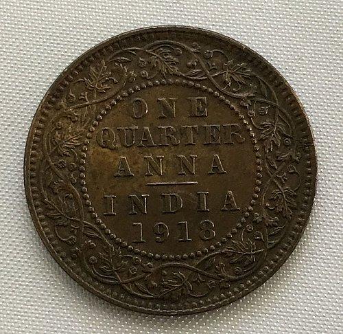 1918 India-British 1/4 Anna