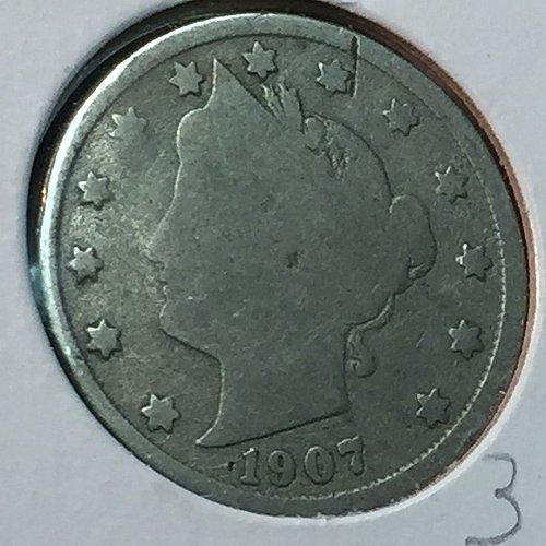 "1907-P Liberty Head ""V"" Nickel (10178)"