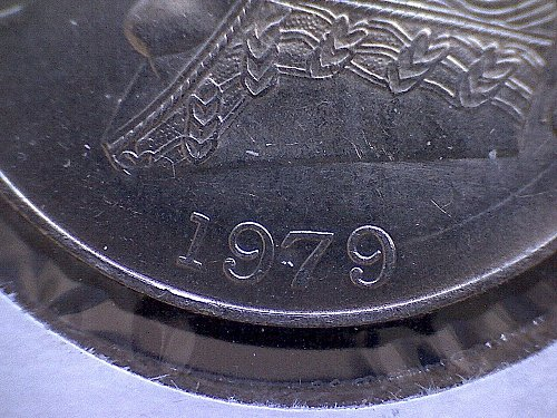 """1979mo MEXICO ONE PESO  """"THIN DATE"""" VARIETY"""