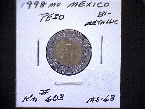 1998MO MEXICO PESO  'BI-METALLIC'