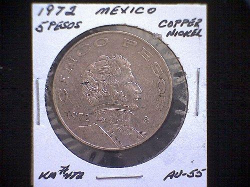 1972mo MEXICO FIVE PESOS