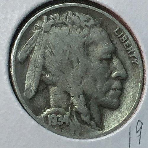 1934-D Buffalo (Indian Head) Nickel (10186)