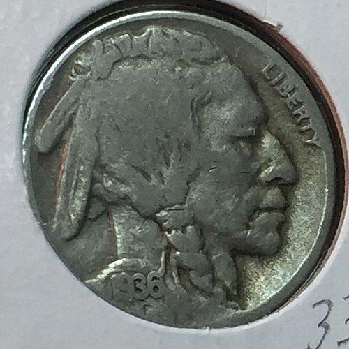 1936-D Buffalo (Indian Head) Nickel (10193)