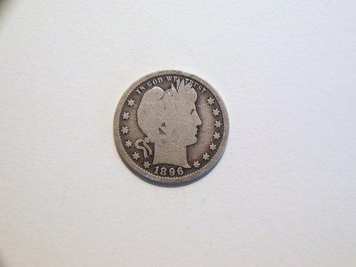 1896-P Silver Barber Quarter