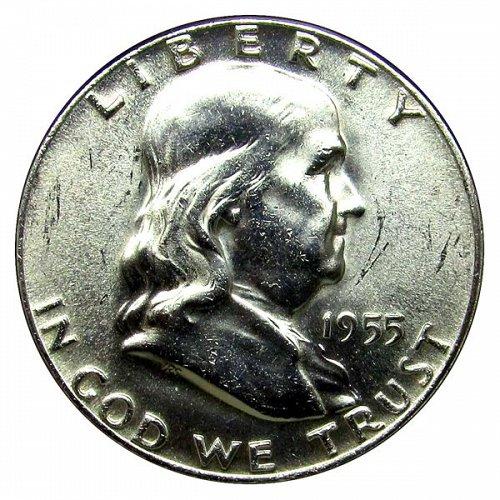 1955 Franklin Half Dollar - BU / MS / Unc