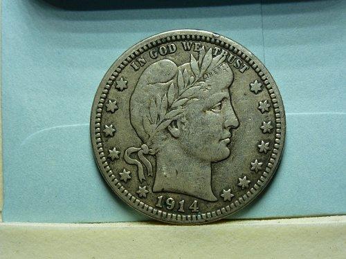 1914 D Barber Quarter Very Fine