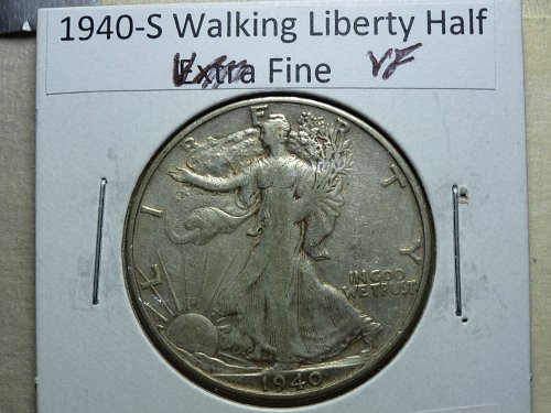 1940-S Walking Liberty Half Dollar Grades Very Fine