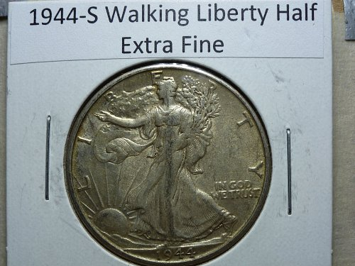 1944-S Walking Liberty Half Dollar Grades Extra Fine