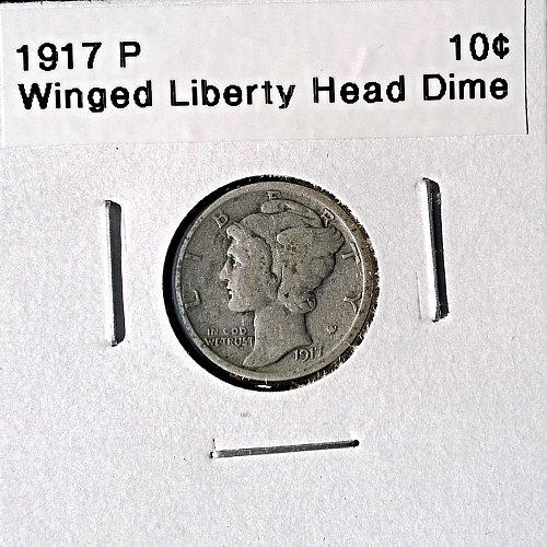 1917 P Winged Liberty Head Dime