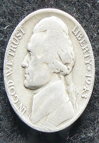 1943 P Jefferson Nickel (VG-8)