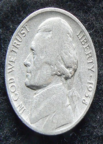 1938 P Jefferson Nickel (F-12)