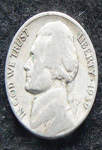 1939 S Jefferson Nickel (F-12)