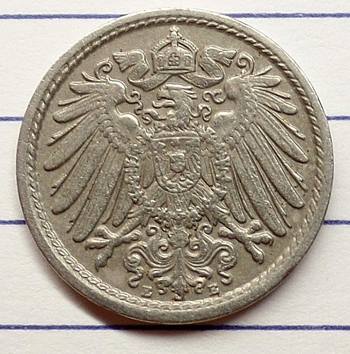 1912 E 5 pfennig GERMANY # 96630