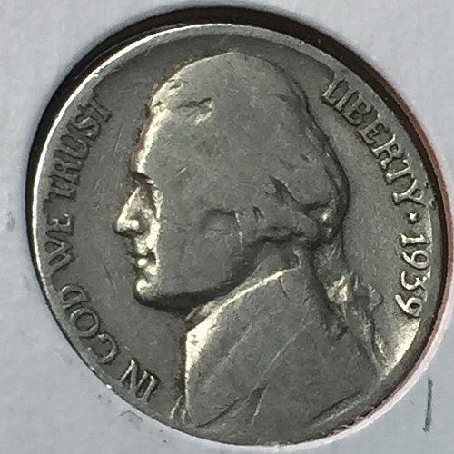 1939-P Jefferson Nickel (10196)