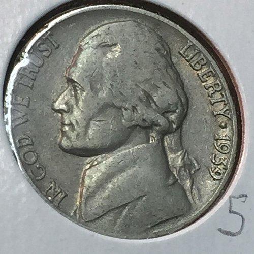 1939-P Jefferson Nickel (10198)